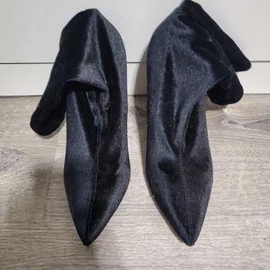 Miss Lola Black Velvet Boots